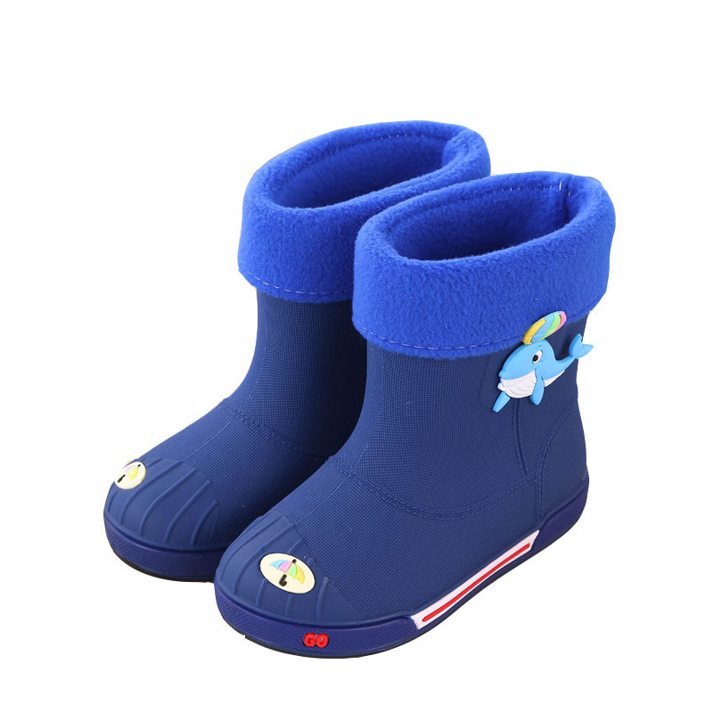 Children's Rain Shoes Cartoon Elementary School Four Seasons Rain Boots Non-slip 2-8 Years Old Boys And Girls Waterproof Shoes