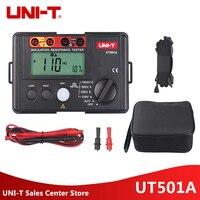 UNI T UT501A 1000V Insulation Earth Ground Resistance Meter Tester Factory Price UT501A Megohmmeter Voltmeter w/LCD Backlight