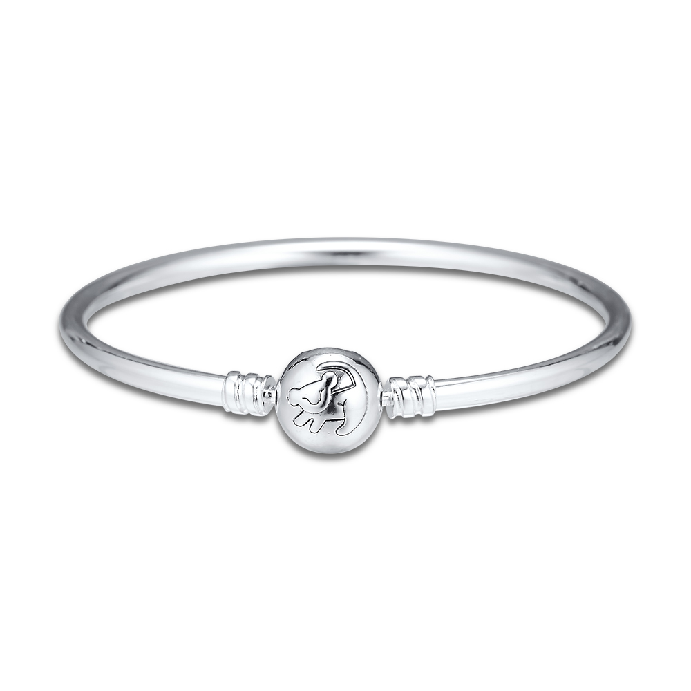 The Lion King Bangle Bracelet Femme 925 Sterling Silver Remember Who You Are Charm Bangles Women Luxury Brand Jewelry Accesorios