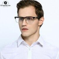 EE Optical Eyeglasses Frames Glasses Frame Men S Business Acetate Material Vintage Square Half Frame Eyeglasses