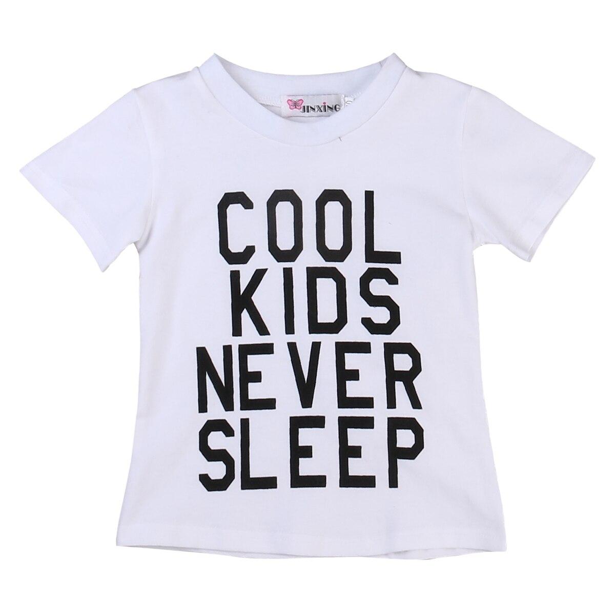 T-Shirt Clothing Short-Sleeve White Kids Boy Cotton Children's Summer Letter 1-6Y Tee