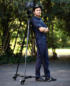 Image 5 - Foldable Tripod Dolly for Photo Video Lighting Lockable 3 Wheels Yunteng 901