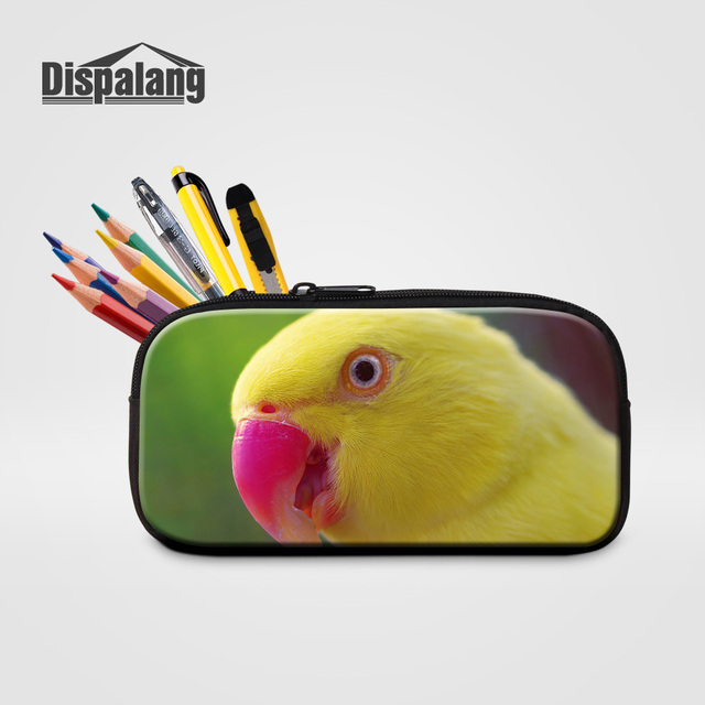 8a4d19034e Dispalang Cute Parrot Printing School Pencil Cases For Children Women  Fashion Small Cosmetic Bags Kids Kawaii
