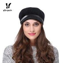 VBIGER lana caliente invierno sombrero de la boina suave gorra boina de  visera para las mujeres 5d7e7aa2c05
