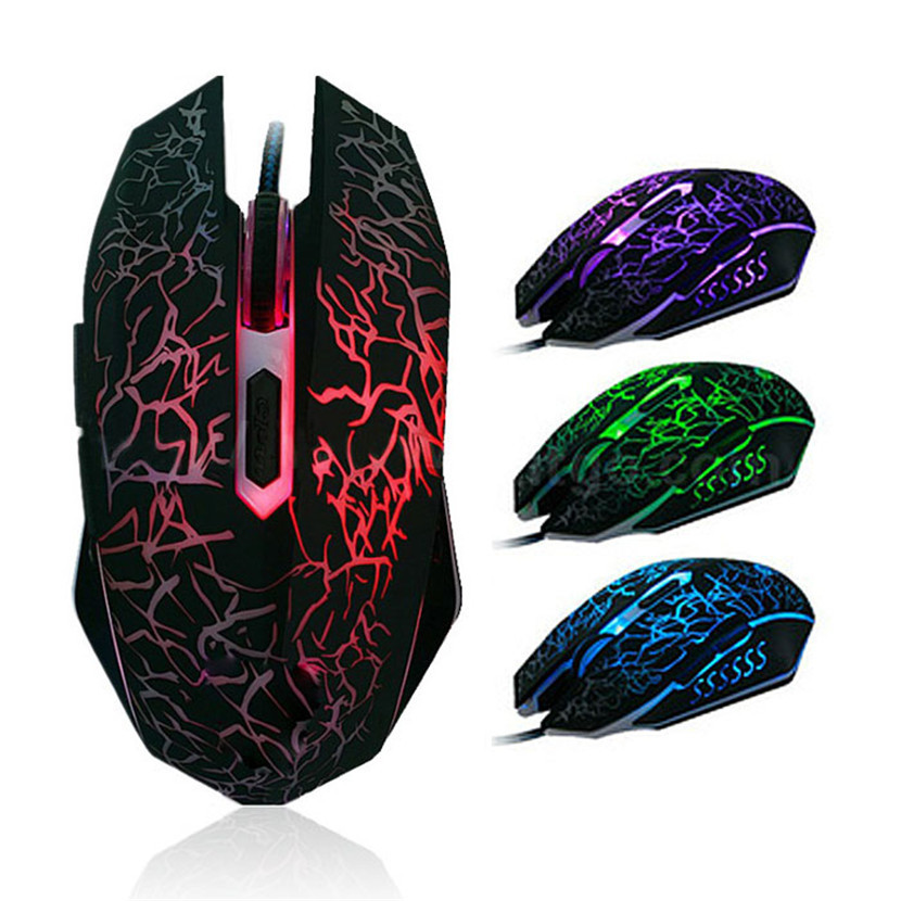 Mecall Tech Professional Colorful Backlight 4000DPI Optical Wired Gaming Mouse Mice