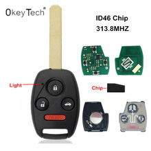 OkeyTech 4 Buttons Remote Car Key For Honda 313MHz Chip ID46 7961 For Honda Civic 2006-2011 Accord 2003 2004 2005 2006 2007(China)