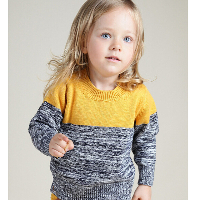 12M-6Yrs Bobo Style Girls Sweater 2016 New Baby Kid Spring Autumn Clothing Pull Fille Garcon Yellow Grey Children Brand Sweater