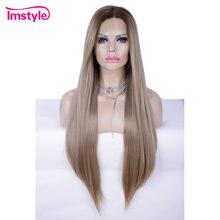 Imstyle Омбре блонд коричневый синтетический кружевной передний