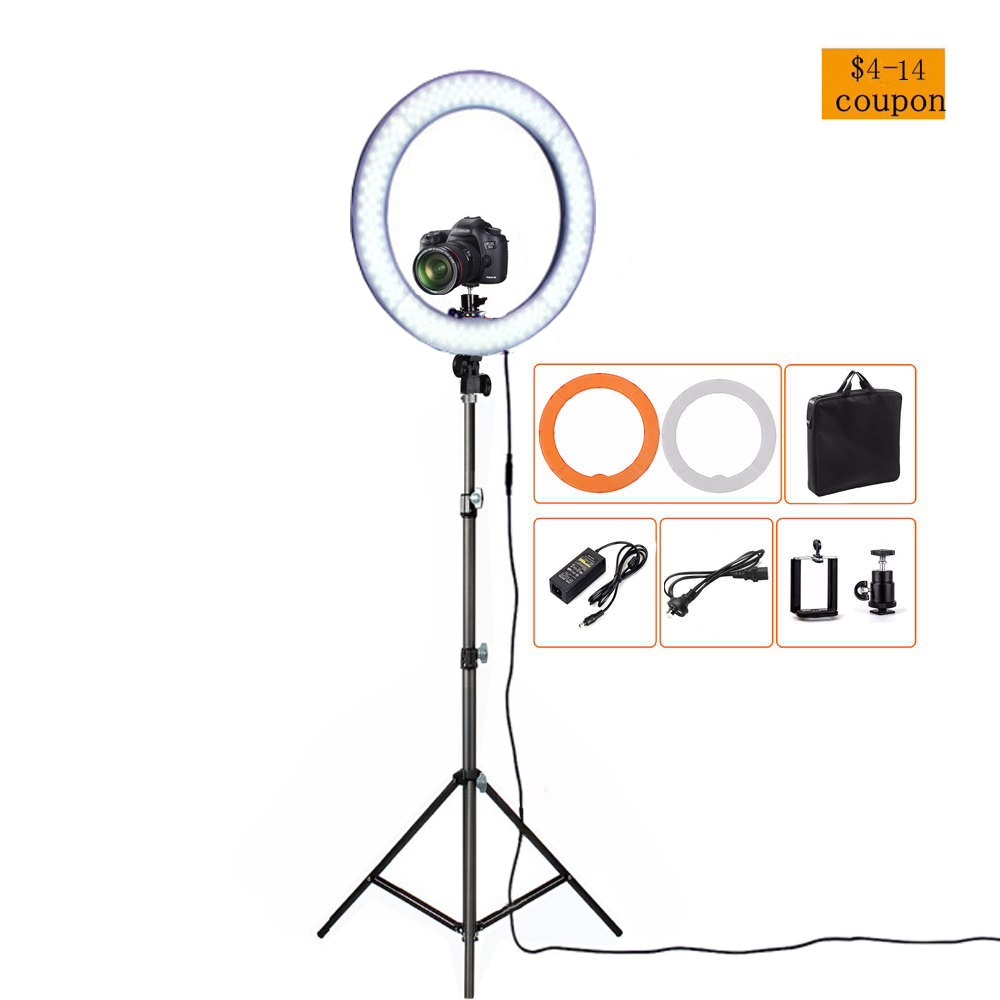 RL 12 36W 5500K 180 LED Photographic Lighting Dimmable Camera Photo Studio Phone Video Photography Ring