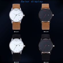 New Retro Date Clock Watch Quartz Leather Analog Wrist Watch relogio feminino erkek kol saati mens watches skmei saat
