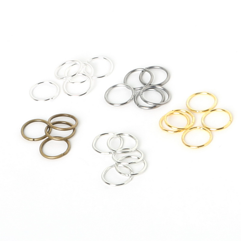 Beadia 1500pcs link loop Silver Gold Rhodium Black Bronze Open Jump Ring for DIY Jewelry Findings Connector