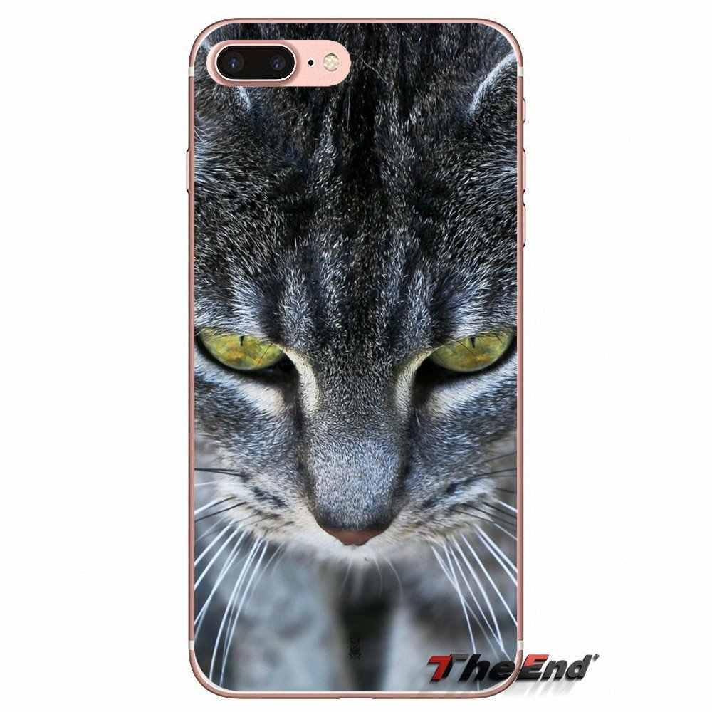 Для Xiaomi Redmi 4 3 3S Pro mi 3 mi 4 mi 4i mi 4C mi 5 mi 5S mi Max Note 2 3 4 чехол с изображением животных Аниме кошек крупным планом Забавный мягкий чехол