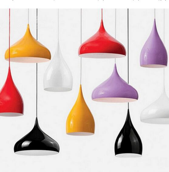 ФОТО colorful vintage brief  iron pendent lamp for dining room bar decoration E27 bulb drop lights A010