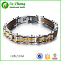 Classic Heavy Bracelet Jewelry Silver And Gold Stainless Steel Men Bracelet