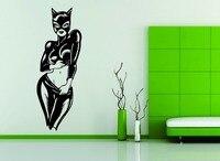 Decorazione della parete Del Vinile Della Decalcomania Caldo Sexy Cat Woman Batman Ragazza Super Hero Nudo
