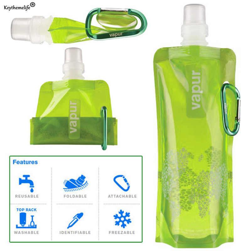 1 قطعة للطي زجاجات مياه في الهواء الطلق التخييم تسلق الجبال السياحة المشي مياه الشرب غلاية عشوائي اللون D4