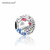קסמי צבעוניים נשר ציפור Pandulaso להכנת תכשיטי DIY אופנה נשים כסף 925 תכשיטי צמידי קסמי Fit קסמי עגולים
