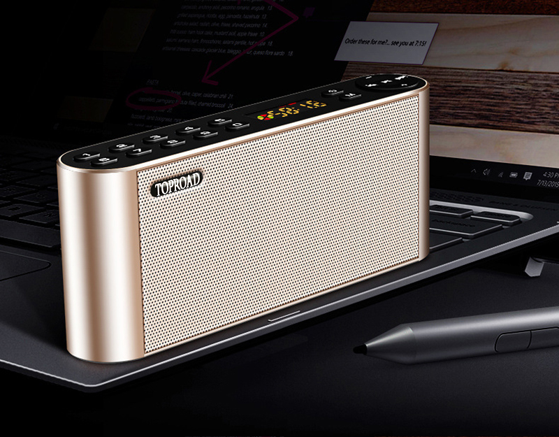 TOPROAD HIFI Wireless Bluetooth Speaker With Super Bass Dual Speakers Soundbar And FM Radio 14