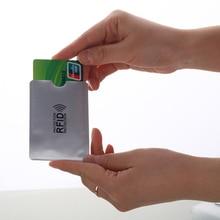 5PCS Anti RFID Blocking Reader Loc Credit Card Holder Aluminium Bank ID Cover Port Cases Protection Case