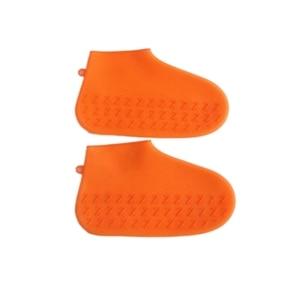 Image 5 - 재사용 가능한 실리콘 신발 커버 방수 비 슬립 비 양말 신발 프로텍터 성인/어린이를위한 탄성 실내 보호