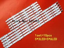 1set = 10pcs UE40H5500AY D4GE-400DCB-R2 300mm-3 leds D4GE-400DCA-R2 550mm-6 leds