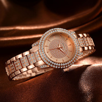 New Stainless Steel Women Wrist Watch Mother Of Pearl Dial Watch Gold Geneva Watch Luxury Quartz