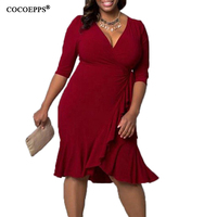 2017 Plus Size Women Clothing Big Size Women Dress Casual Bandage Dress 6XL Black Dress 5XL