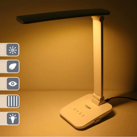Portable Adjustable Desk Lamps Rechargeable led Table Lamp foldable color temperature changeable with touch dimmer