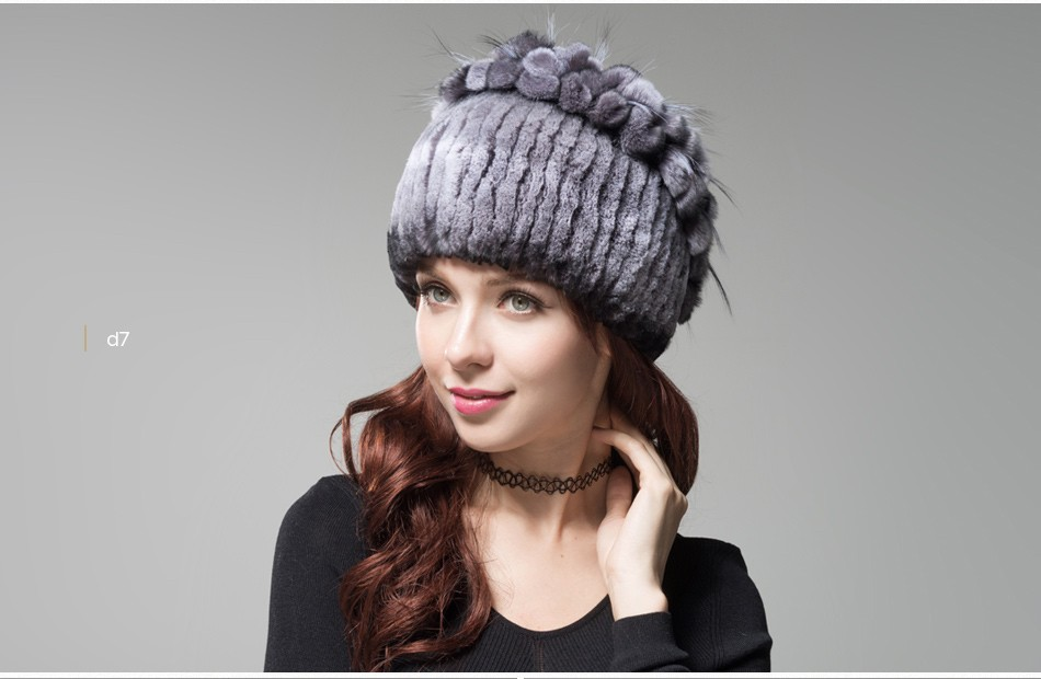 fur winter hats for women PCM003 (19)