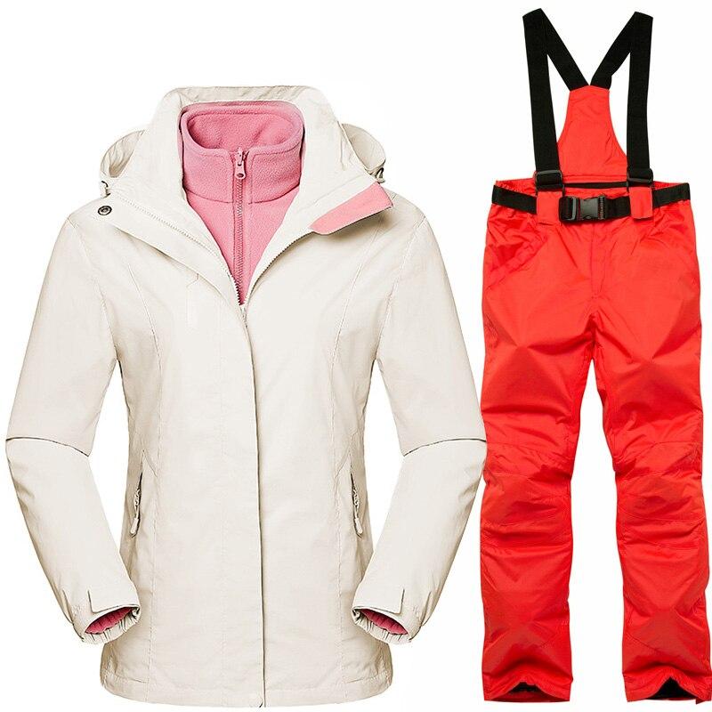 CCIVIVFREE combinaison de Ski femme hiver coupe-vent imperméable Snowboard vestes et pantalons femmes sports de plein air randonnée Camping manteau chaud
