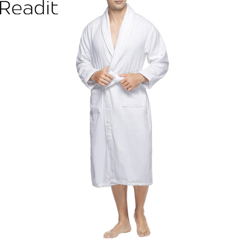 85261c4da4 Male Robes Sexy Cotton Bathrobe Men Terry Cloth Robe Mens Bathrobes Pajamas  Kimono Bath Robe Men Dressing Gown PA1822M