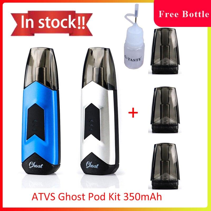 US $8 53 21% OFF|Newest pod vape ATVS Ghost Pod vape Kit built in 350mah  battery vape pod system with 1 5ml capacity pod vs justfog minifit-in