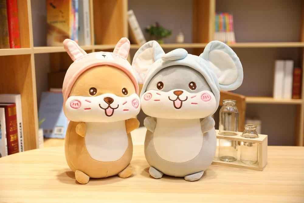 אוגר להפוך חמוד עכבר פיל ארנב כובע רך ממולא בפלאש משרד כרית צעצועי גדול גודל בובה לילדים מתנה