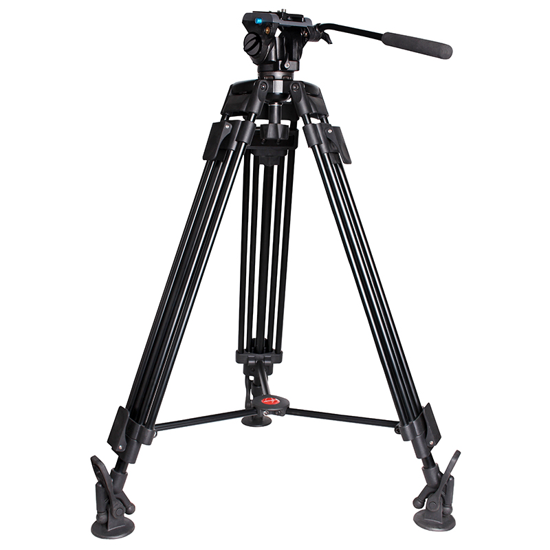 Professional heavy duty video camera tripod stand with Pan tilt fluid head VS Miliboo MTT603A цена 2017