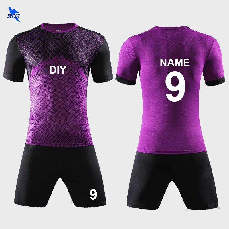 7e25959dde8ce Jersey de fútbol deportes trajes para niños hombre Kits de fútbol ropa  deportiva de verano trajes niños adultos Futsal establece uniformes DIY  personalizar