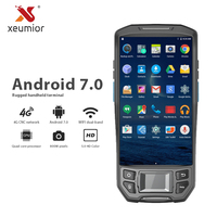 5 Inch Industrial Android Rugged Data Collector Terminal Wireless NFC Wifi Barcode Reader UHF RFID PDA Scanner with Fingerprint