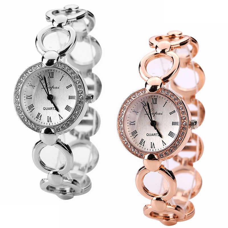 Lvpai אופנה יהלומים שעונים נשים ריינסטון צמיד צמיד Wristwatch-M40