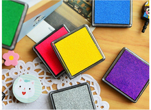 Colorful Cute Sponge Small Printing Pad Square Inkpad Rubber Chapter Stationery Set
