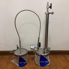 135g Нержавеющая сталь Топ заполнены замкнутый контур экстрактор bho w/оплетка шланг с манометром и душем