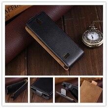 Роскошные Магнитный Вертикальный Кожаный Флип Чехол Для Nokia 515 N515 Черный Случаи PY