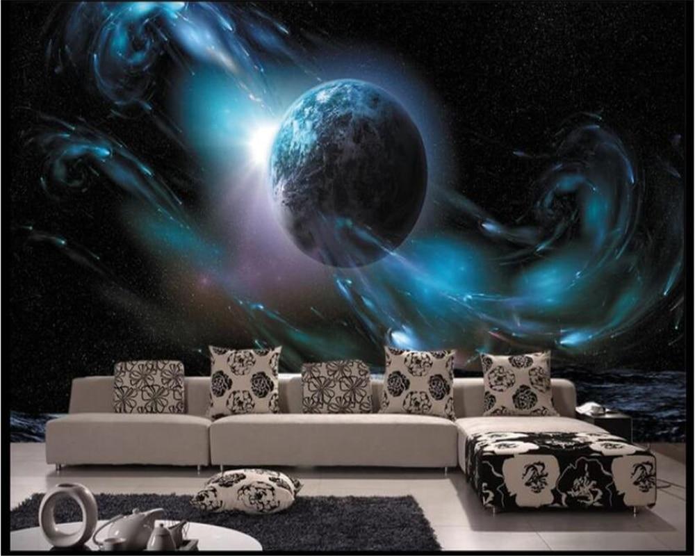 Купить с кэшбэком beibehang papel de parede Beautiful high-definition space TV background wall decoration painting wallpaper hudas beauty