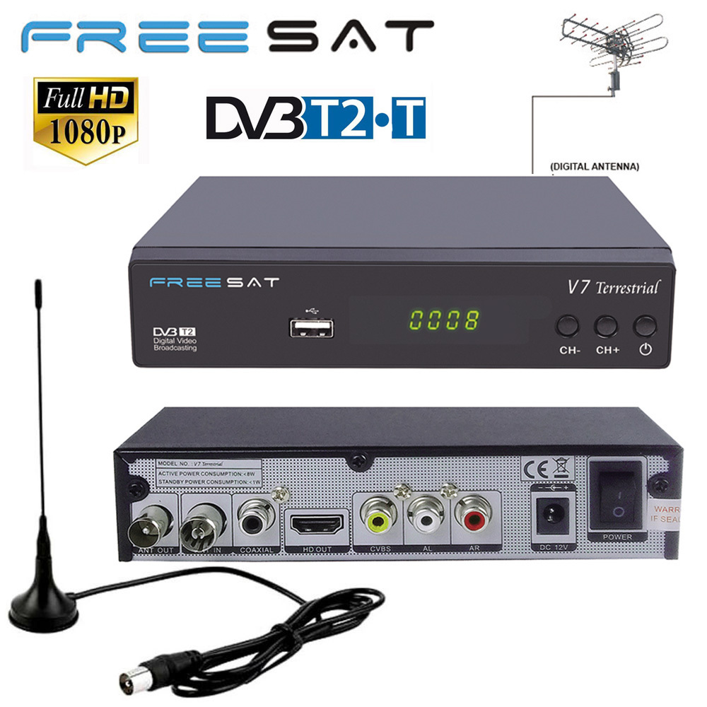 Genuine FREESAT V7 Terrestrial DVB T2 AC3 LCN Smart TV Box DVB T HD STB