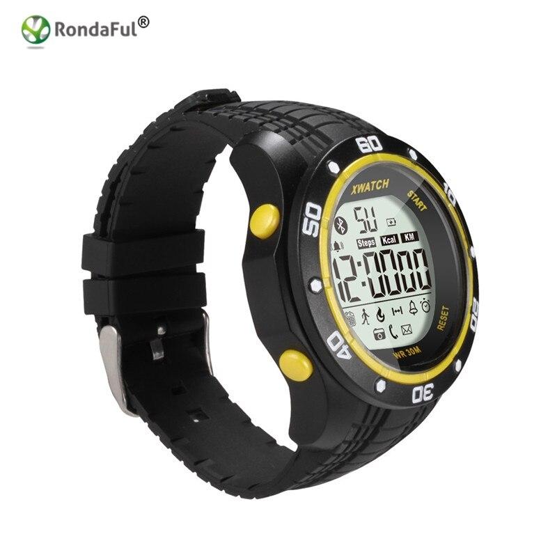 imágenes para Al aire libre A Prueba de agua Reloj Deportivo Original XWatch Podómetro Reloj Inteligente Bluetooth Smartwatch para Android IOS Teléfono Noche Visible