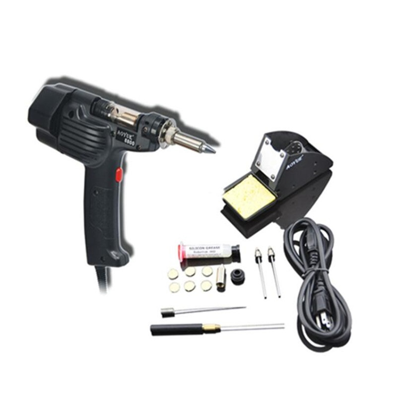 AOYUE 8800 Handheld Electric Vacuum Desoldering Pump Solder Sucker Gun Desoldering Gun Soldering Station 150W цена