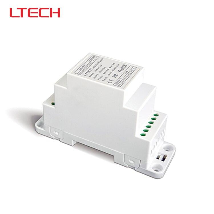 ФОТО DIN-413-6A DIN-Rail LED Dimming Driver(DIN rail/Screw dual-use),DC12V-24V input;6A*3CH MAX 18A output