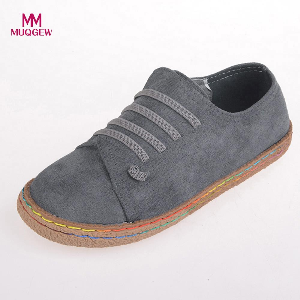 Women Ladies Soft Flat Ankle Single Shoes Female Suede Leather Lace-Up Boots Feminine charm slip-on design Women Leisure Shoes women ankle boots 2016 round toe autumn shoes booties lace up black and white ladies short 2017 flat fashion female new chinese
