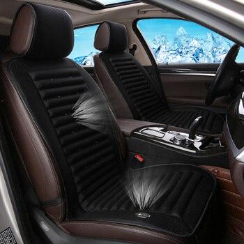 12 v soğutma fanı Araba koltuğu kapakları, nefes evrensel soğutucular araba aksesuarları malzemeleri, net bez yaz fanlar araba koltuk minderi