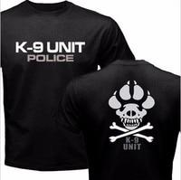 Nowy K-9 Specjalne Jednostki Policja Pies Stóp Canine Mężczyźni T Shirt Tops na co dzień Funny Tshirt Mężczyzna Bawełna Punk O Szyi Koszula Z Krótkim Rękawem Tee
