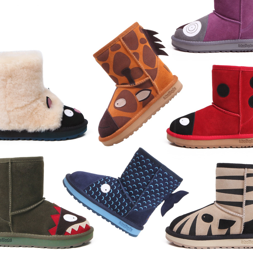Kids Baby Ugly Boots real wool, Baby Boy and girl Winter ...