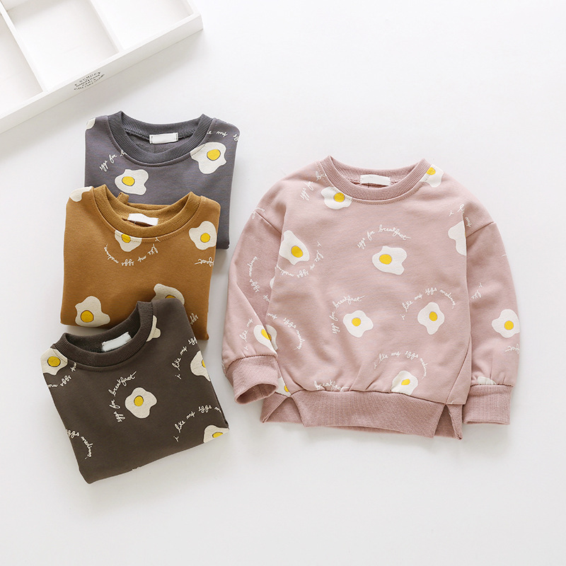 Yorkzaler Spring Autumn Kids Shirt For Girl Long Sleeve O-neck Childrens Shirt Casual Cartoon Todder Baby Clothing Outfits